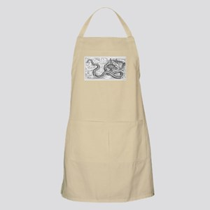 Sea Monster Attacking Boat Apron