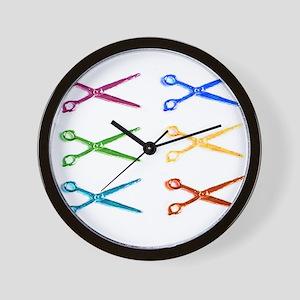 warholscissorlogo Wall Clock