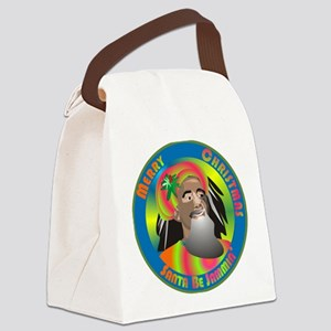 Santa Be Jammin Canvas Lunch Bag