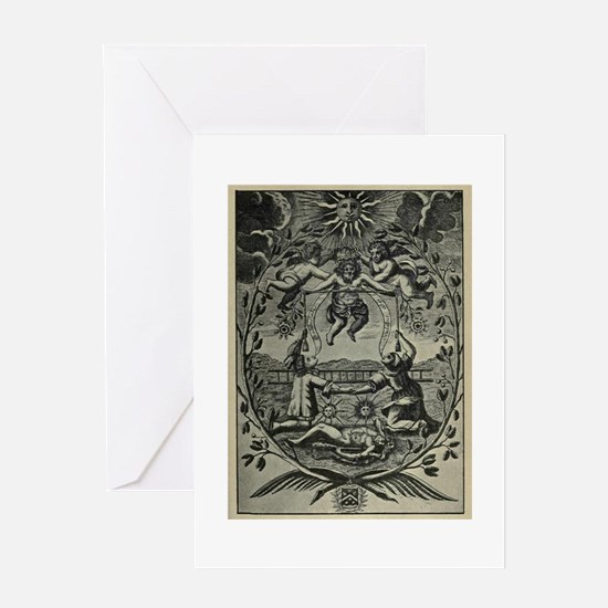 Alchemical Print from 1677 Greeting Cards