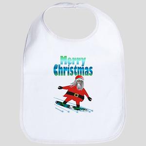 Snowboard Santa Bib