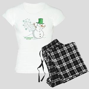 Funny Snowman Snowflakes Illustration Women's Ligh
