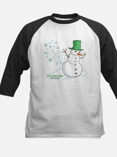 Funny Snowman Snowflakes Illustration Tee