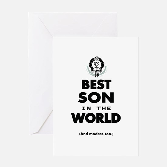 The Best in the World Best Son Greeting Cards
