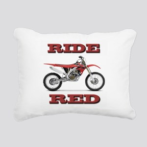 RideRed 08 Rectangular Canvas Pillow