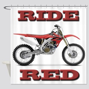 RideRed 08 Shower Curtain