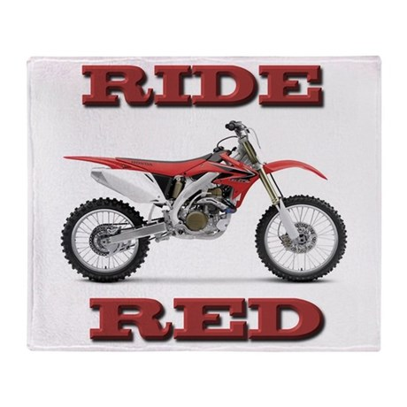 RideRed 08 Throw Blanket