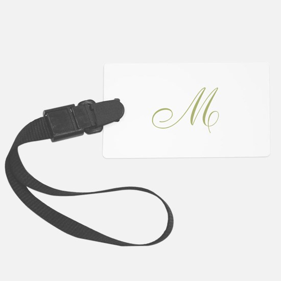 Gold Monogrammed Initial Luggage Tag