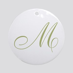 Gold Monogrammed Initial Ornament (Round)