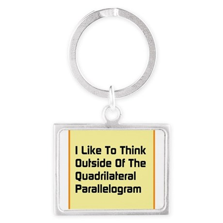 Quadrilateral Parallelogram Keychains