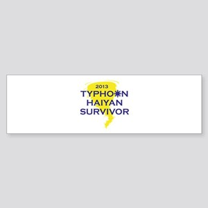 Typhoon Haiyan Survivor Sticker (Bumper)