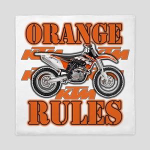 Orange Rules Queen Duvet