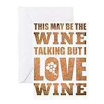Wine Talking Greeting Cards