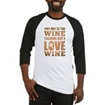 Wine Talking Baseball Jersey