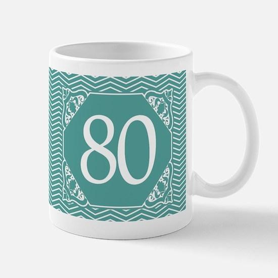 80th Birthday (Chevron) Mug