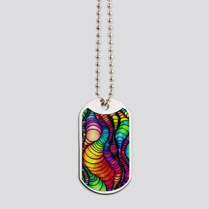 Colorful Tubes Dog Tags
