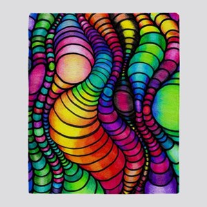 Colorful Tubes Throw Blanket