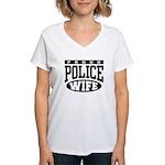 Proud Police Wife Women's V-Neck T-Shirt