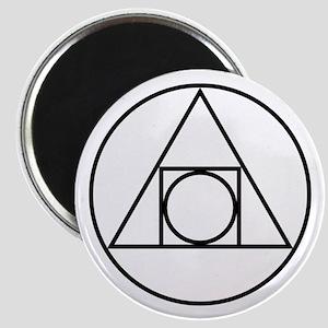 circle square triangle symbol Magnets