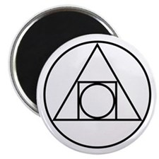 circle square triangle symbol Magnets
