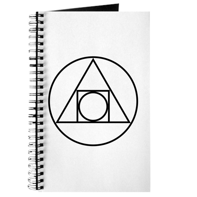Circle Square Triangle Symbol Journal By Symbology