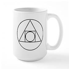 circle square triangle symbol Mugs