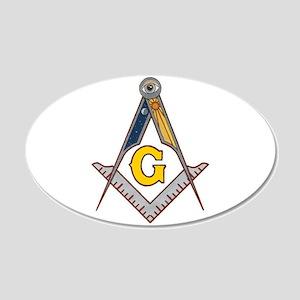 Masonic Square Compass Wall Decal