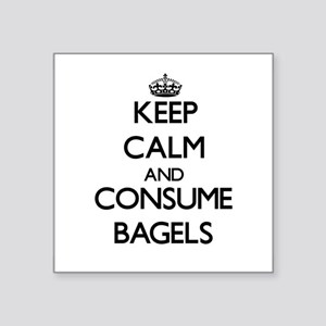 Keep calm and consume Bagels Sticker