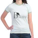 Borzoi Logo Jr. Ringer T-Shirt