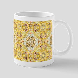 Yellow graphic Mugs