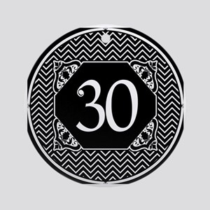 30th Birthday (Chevron) Ornament (Round)