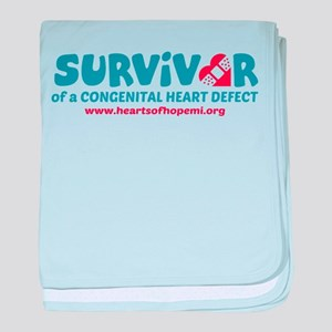Survivor of a Congenital Heart Defect baby blanket