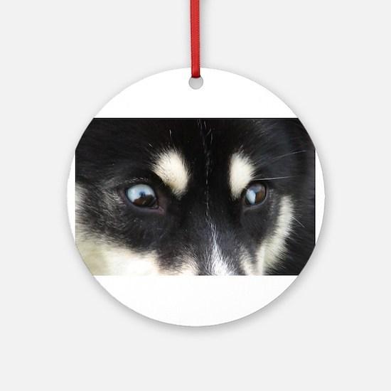 Siberian Husky Puppy Ornament - T Ornament (Round)