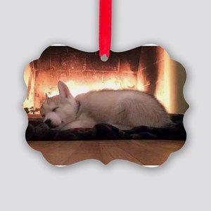 Siberian Husky Puppy Ornament - T Picture Ornament