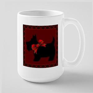 Scottie Dog with plaid Mugs