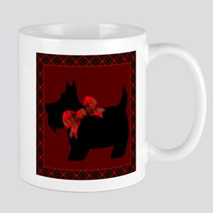 Scottie Dog with plaid Mugs