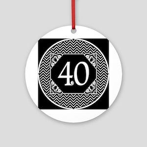 40 (Chevron) Ornament (Round)