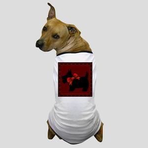 Scottie Dog with plaid Dog T-Shirt