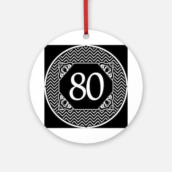80 (Chevron) Ornament (Round)