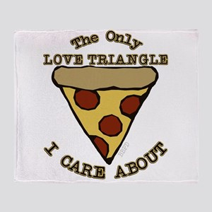 Love Triangle Pizza Throw Blanket