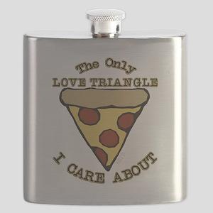Love Triangle Pizza Flask
