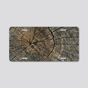 Wood Digital art Aluminum License Plate