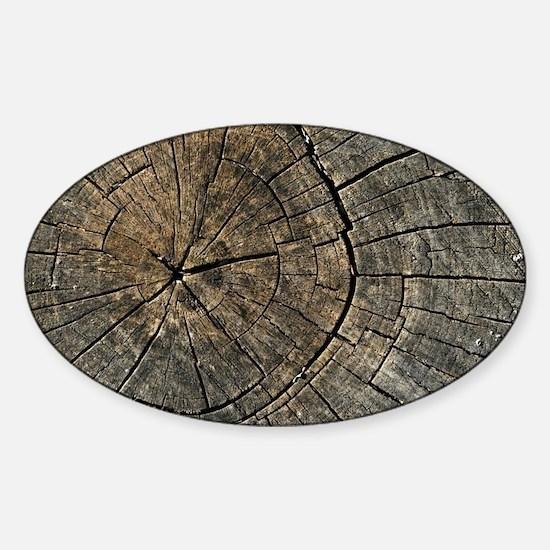 Wood Digital art Sticker (Oval)