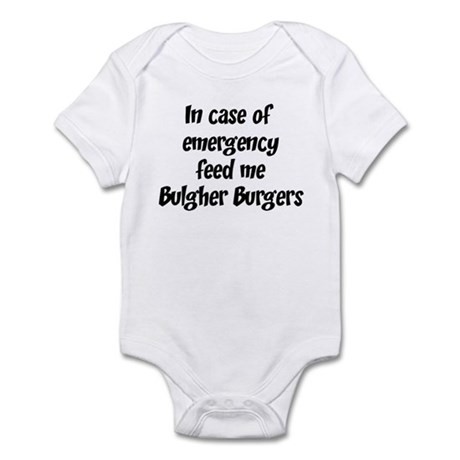 Feed me Bulgher Burgers Infant Bodysuit