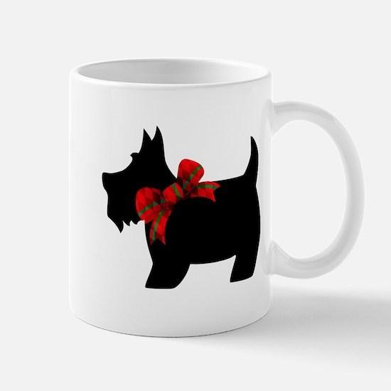 Scottie dog with bow Mugs