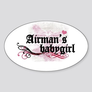 Airman's Babygirl Oval Sticker