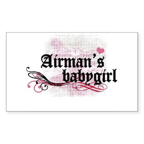Airman's Babygirl Rectangle Sticker