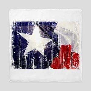 Texas Waving Flag Queen Duvet