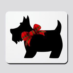 Scottie dog with bow Mousepad