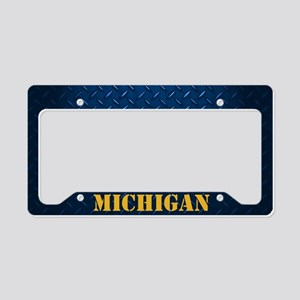Michigan Diamond Plate License Plate Holder